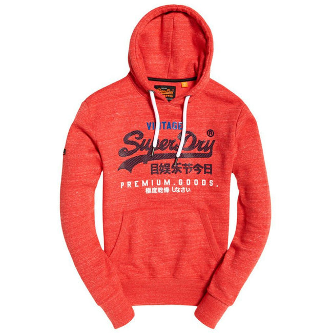 Superdry Premium Goods Tri Infill Hood in Cali Red Heather