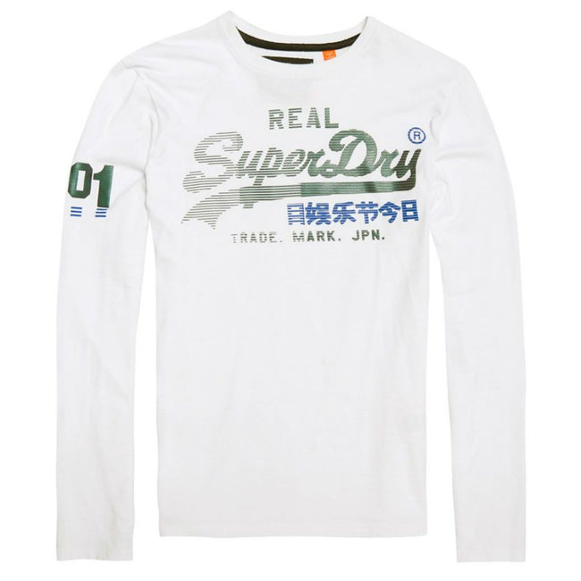 Superdry Vintage Logo 1st Duo L/S T-Shirt in Optic