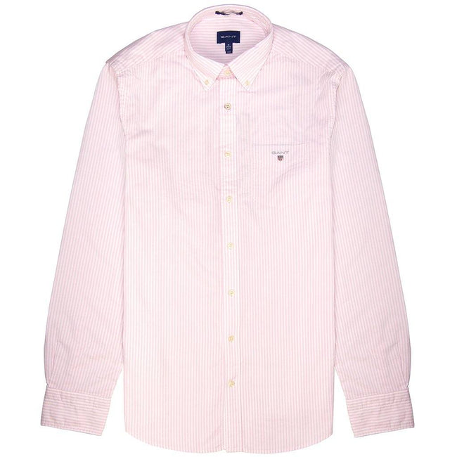 Gant The Oxford Banker Shirt in Light Pink / White