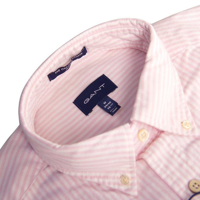 Gant The Oxford Banker Shirt in Light Pink / White Shirts Gant