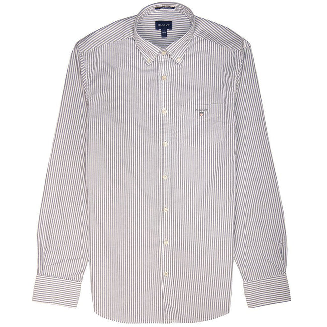 Gant The Oxford Banker Shirt in Persian Blue / White