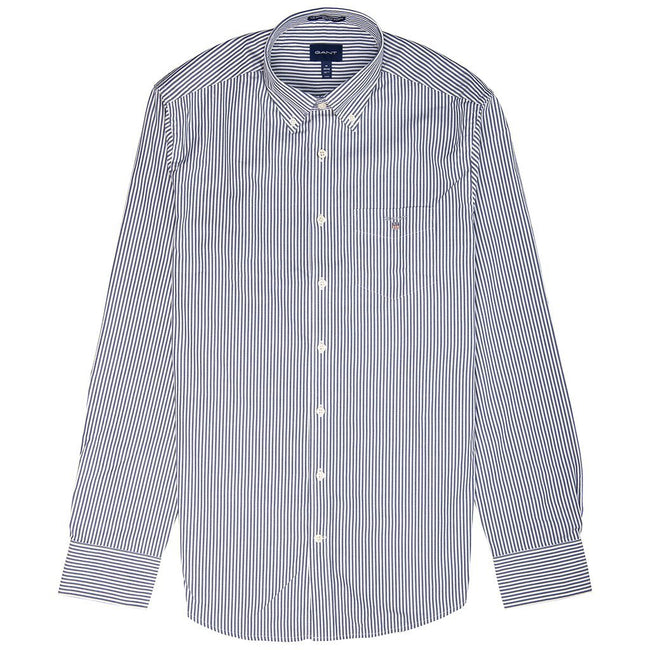 Gant The Broadcloth Banker Stripe Shirt in Persian Blue