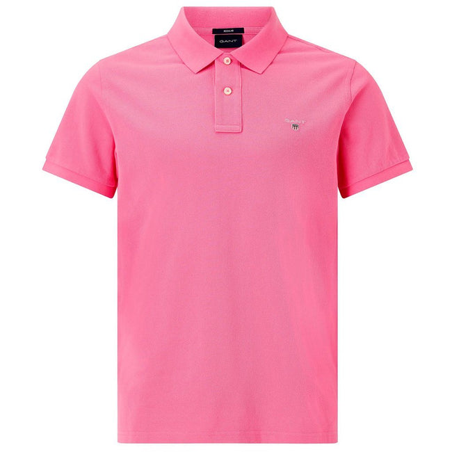 Gant The Original Pique Polo Shirt in Pink Rose Polo Shirts Gant