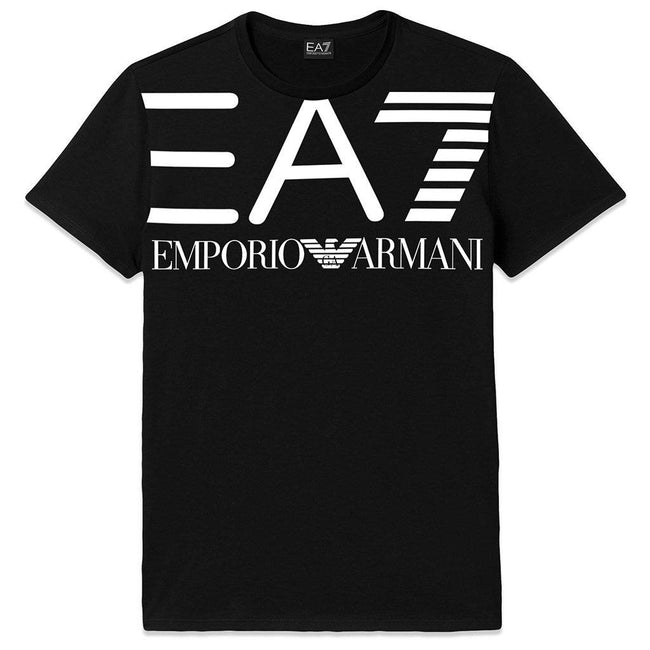 Emporio Armani EA7 Crew Neck Logo T-Shirt in Black