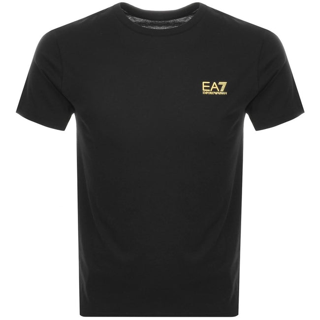 Emporio Armani EA7 Crew Neck T-Shirt in Black