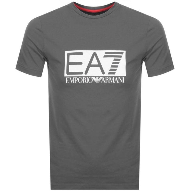 Emporio Armani EA7 Crew neck T-shirt in Grey
