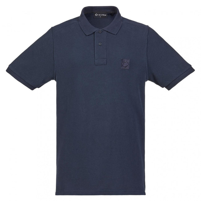 MA.Strum Pique Icon Polo Shirt in Navy