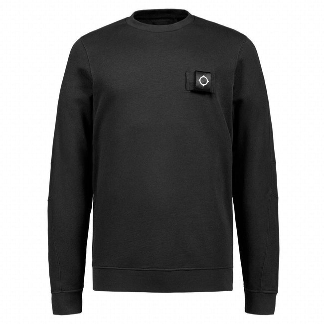 MA.Strum Training Crew Sweatshirt in Black
