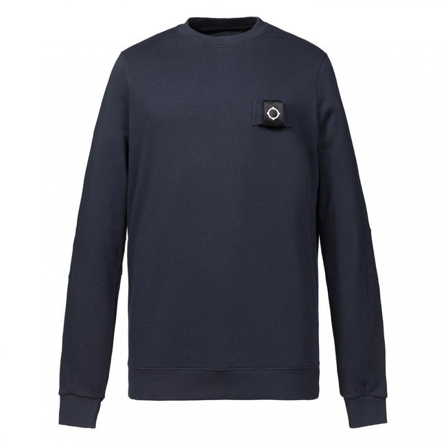 MA.Strum Training Crew Sweatshirt in Dark Navy