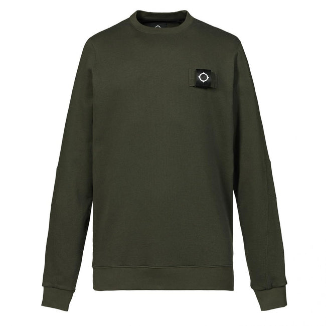 MA.Strum Training Crew Sweatshirt in Khaki Green