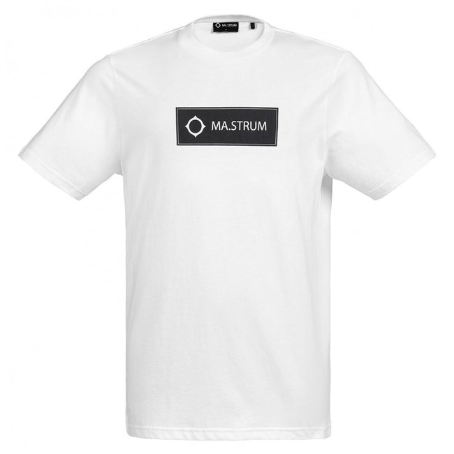 MA.Strum Icon Box Logo Tee in White