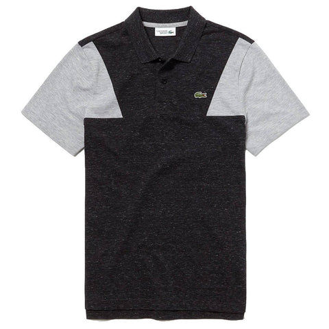 Lacoste Sport YH3463-PVJ Contrast Sleeves Ultra Light Cotton Polo Shirt in Dark Grey Polo Shirts Lacoste