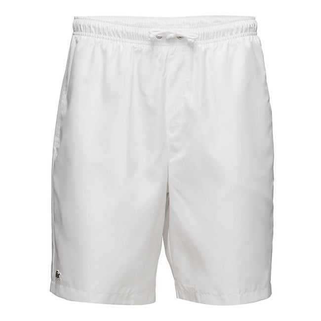 Lacoste Sport GH353T-001 tennis shorts in solid diamond weave taffeta in White
