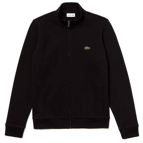 Lacoste SH4317-031 Zip Stand-Up Collar Fleece Sweatshirt in Black sweatshirt Lacoste