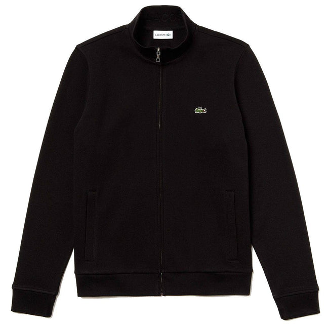 Lacoste SH4317-031 Zip Stand-Up Collar Fleece Sweatshirt in Black