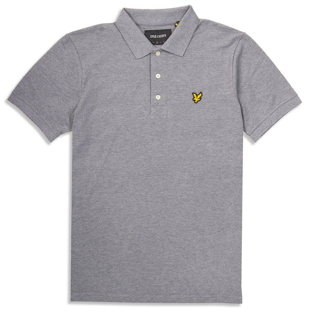 Lyle & Scott Polo Shirt in Mid Grey Marl