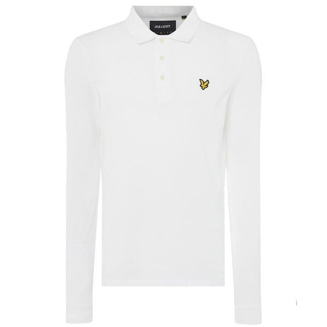 Lyle & Scott Long Sleeved Polo Shirt in White
