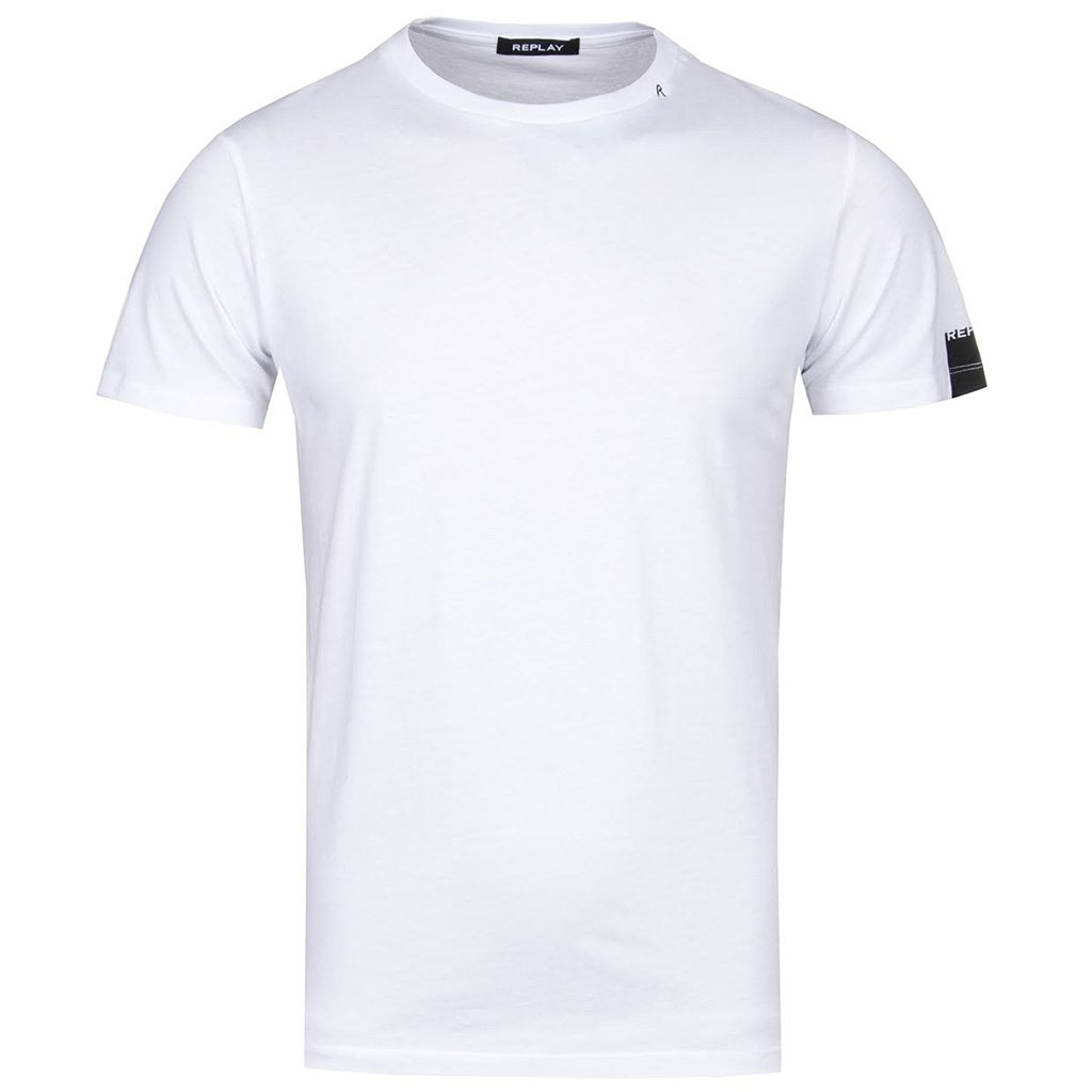 Replay Pure Cotton Crewneck T-Shirt in White
