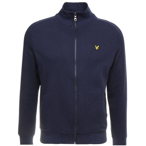 Lyle & Scott Funnel Neck Zip Through Sweatshirt in Navy sweatshirt Lyle & Scott