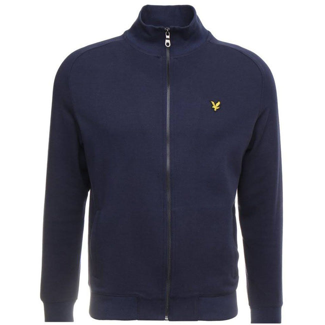 Lyle & Scott Funnel Neck Zip Through Sweatshirt in Navy