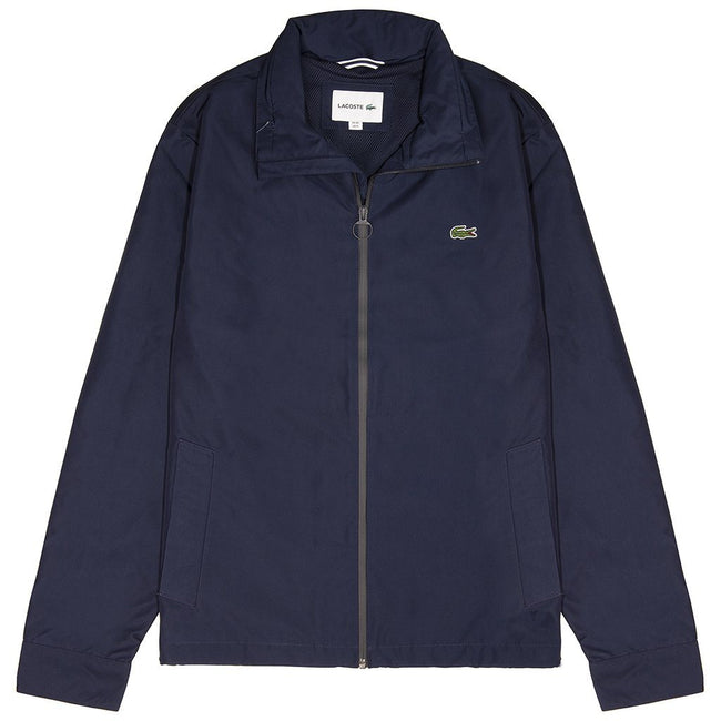 Lacoste BH9193-166 Short Zip Through Windbreaker in Navy