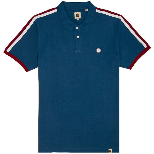 Pretty Green Contrast Panel Polo in Blue