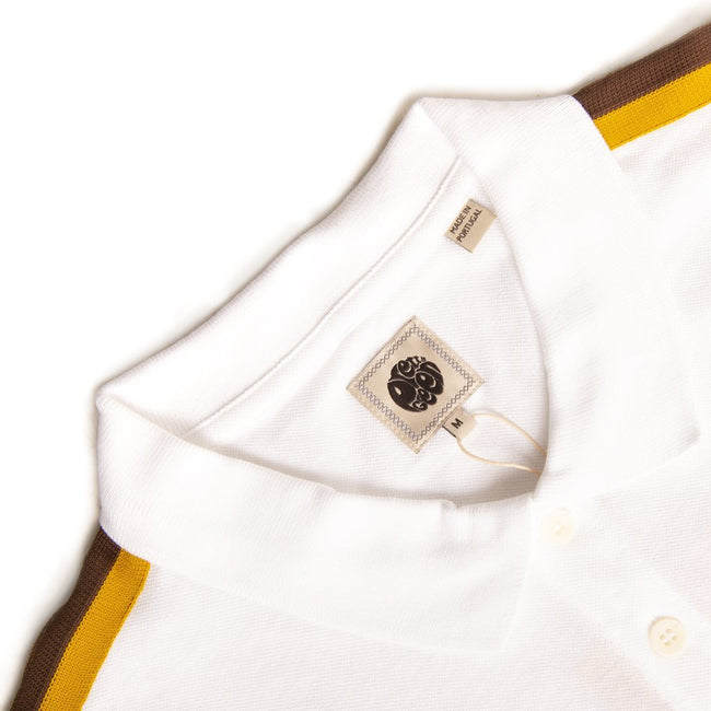 Pretty Green Contrast Panel Polo in White