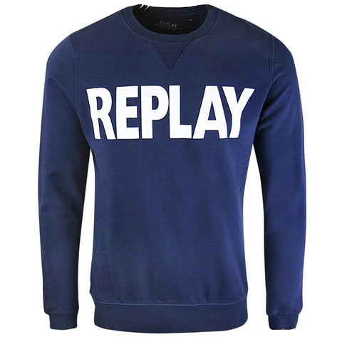 Replay Sweater in Navy sweatshirt Replay