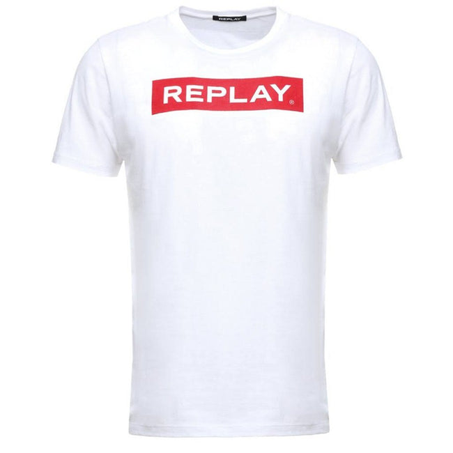 Replay Block Logo T-Shirt in White