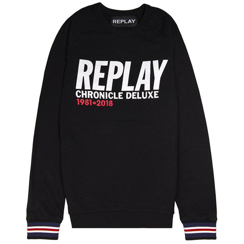 Replay Chronicle Sweater in Black sweatshirt Replay