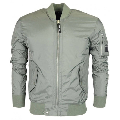 Replay Bomber Jacket in Sage Green Coats & Jackets Replay
