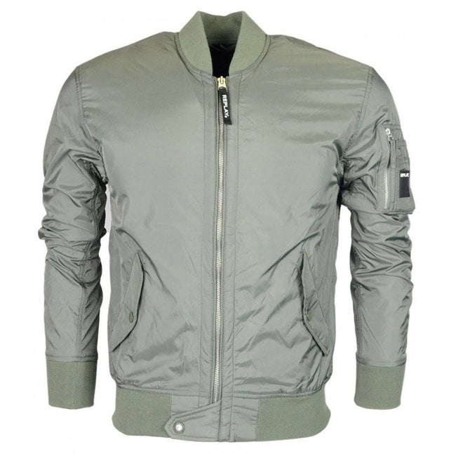 Replay Bomber Jacket in Sage Green