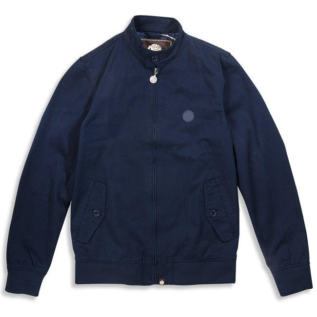 Pretty Green Cotton Harrington Jacket in Navy