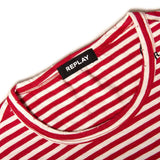 Replay Striped T-Shirt in Red/ White