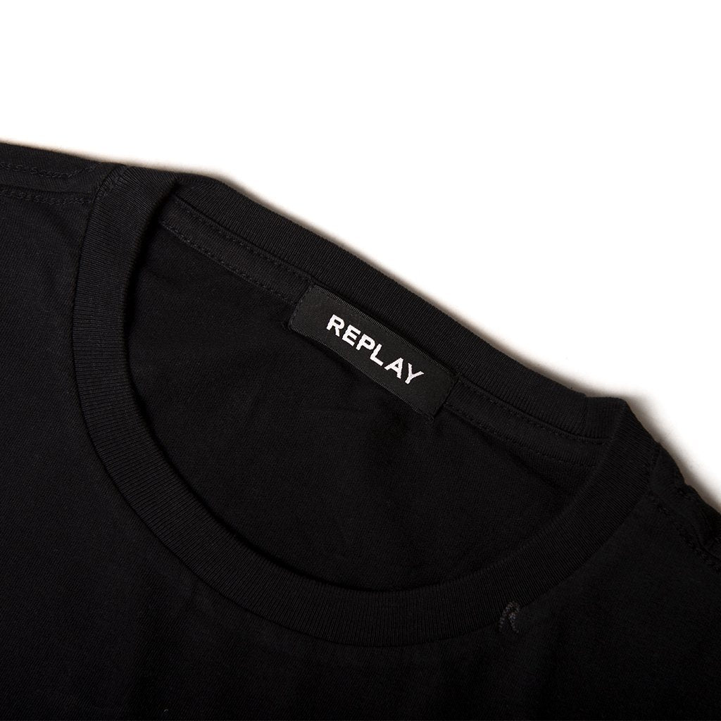 Replay Graphic T-Shirt in Black