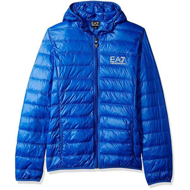 EA7 Emporio Armani Down Jacket in Royal Blue Coats & Jackets Emporio Armani EA7