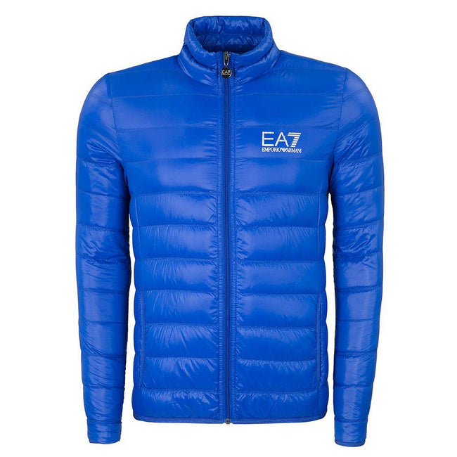 EA7 Emporio Armani Down Collar Jacket in Royal Blue Coats & Jackets Emporio Armani EA7