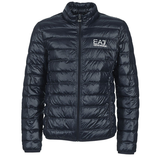 EA7 Emporio Armani Down Collar Jacket in Night Blue