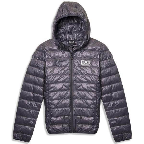 EA7 Emporio Armani Down Jacket in Anthracite Grey Coats & Jackets Emporio Armani EA7
