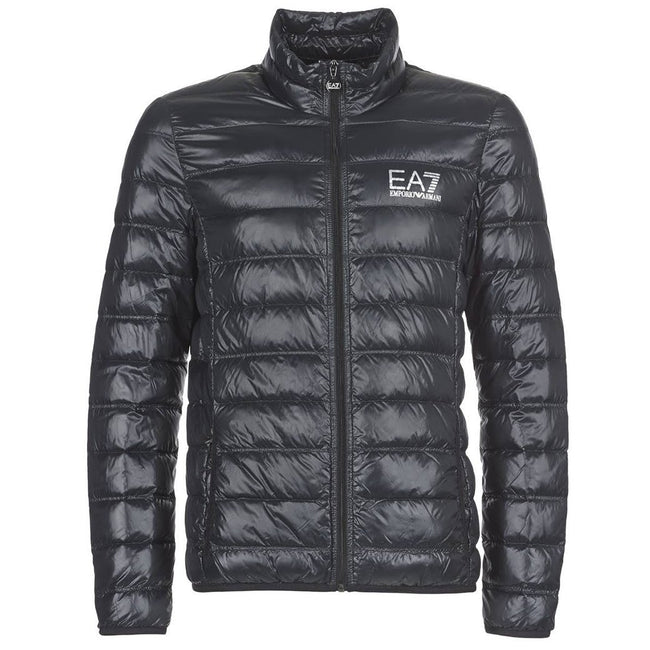 EA7 Emporio Armani Down Collar Jacket in Black