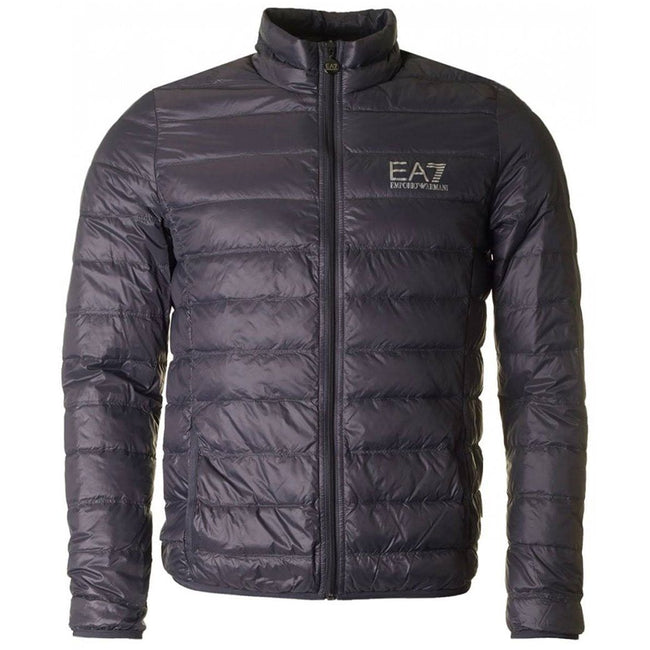 EA7 Emporio Armani Down Collar Jacket in Anthracite Grey