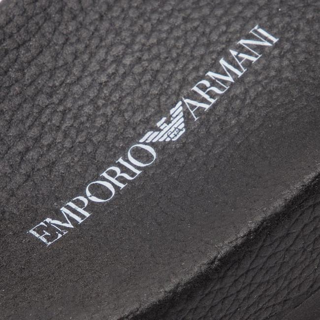 Emporio Armani Sliders in Black