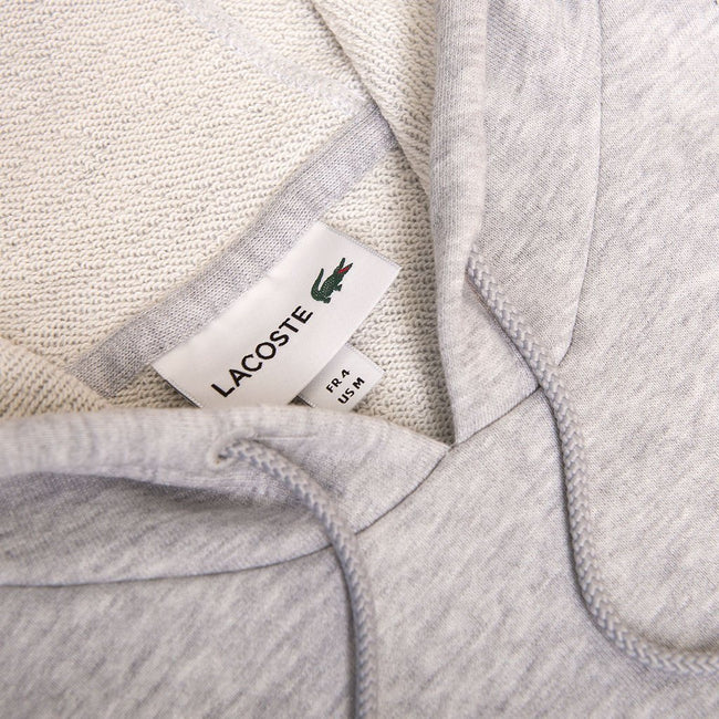 Lacoste SH6342 Crocodile Hoodie in Grey