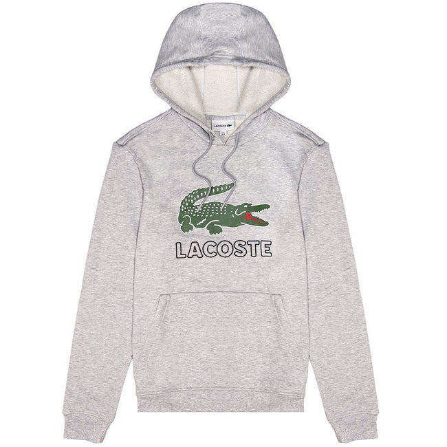 Lacoste Crocodile Hoodie in Grey