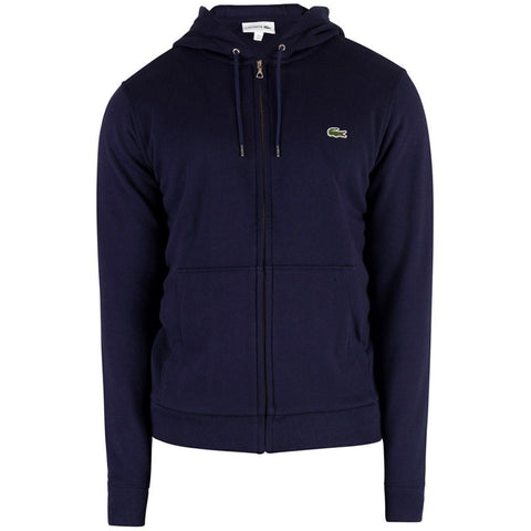 Lacoste SH4286 166 Full Zip Hooded Sweatshirt in Navy sweatshirt Lacoste