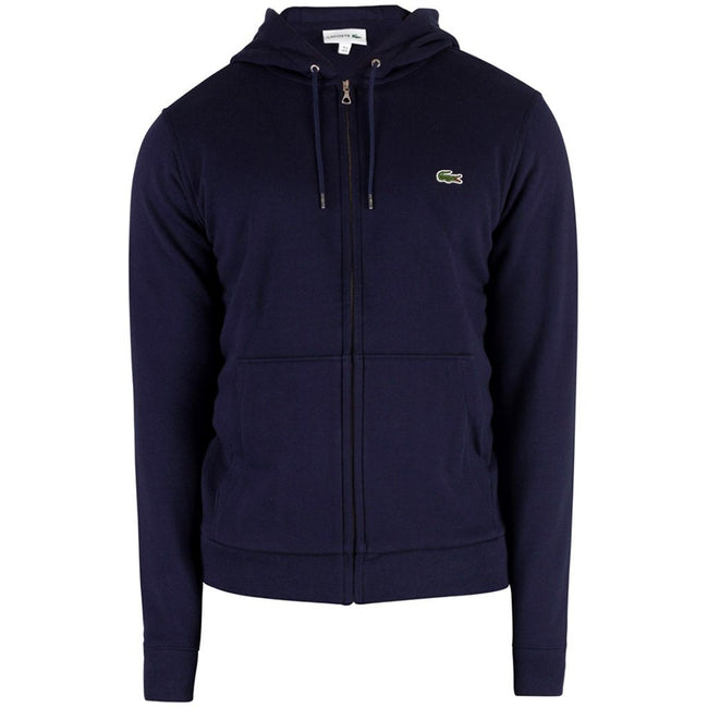 Lacoste SH4286 166 Full Zip Hooded Sweatshirt in Navy