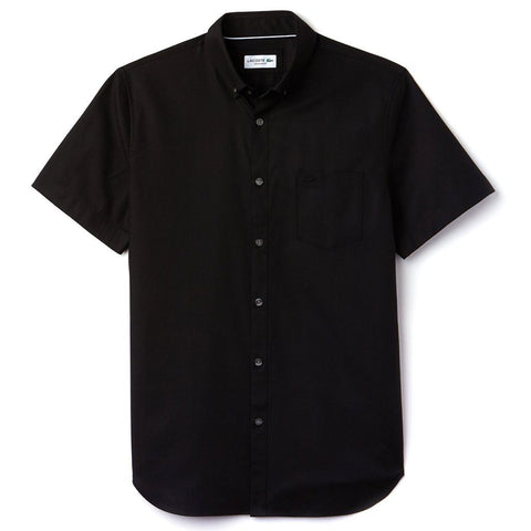Lacoste CH9612 C31 Regular Fit Piqué Shirt in Black Shirts Lacoste