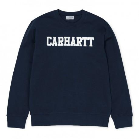 Carhartt College Sweatshirt in Navy/White sweatshirt Carhartt