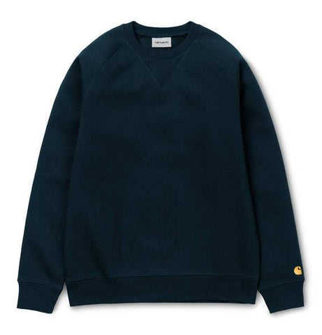 Carhartt Chase Sweatshirt in Dark Navy/Gold sweatshirt Carhartt