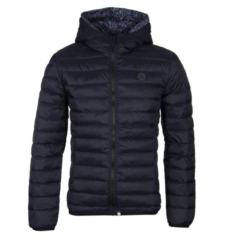 Pretty Green Lightweight Quilted Hooded Jacket in Black Coats & Jackets Pretty Green